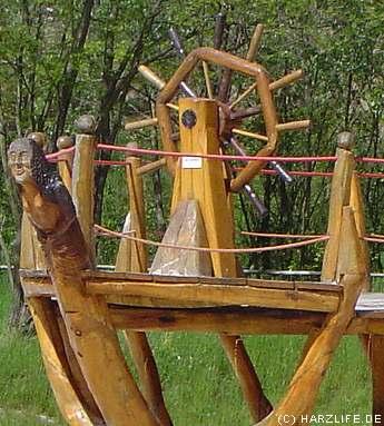 Piratenschiff - Teilansicht
